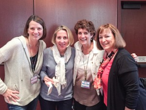 The four chapter leaders who formed the Alliance (from l-r): Traci Richards (Northern Virginia), Sally Wiarda (DuPage County, IL), Laurie Richter (North Suburban Chicago), and Tracy Lobdell (Long Island, NY).